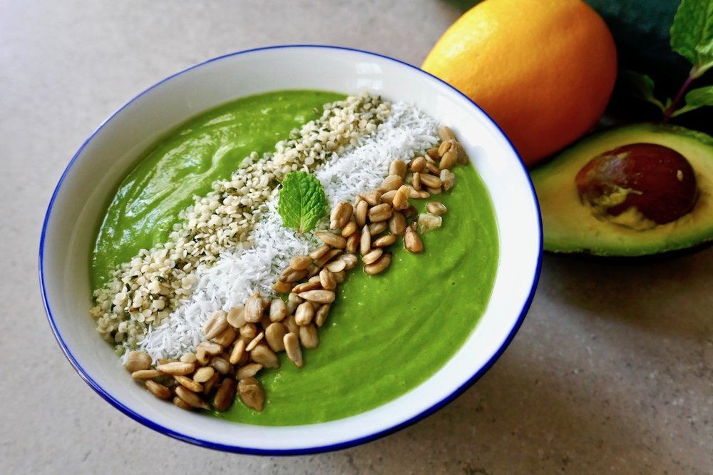 No fruit green smoothie bowl