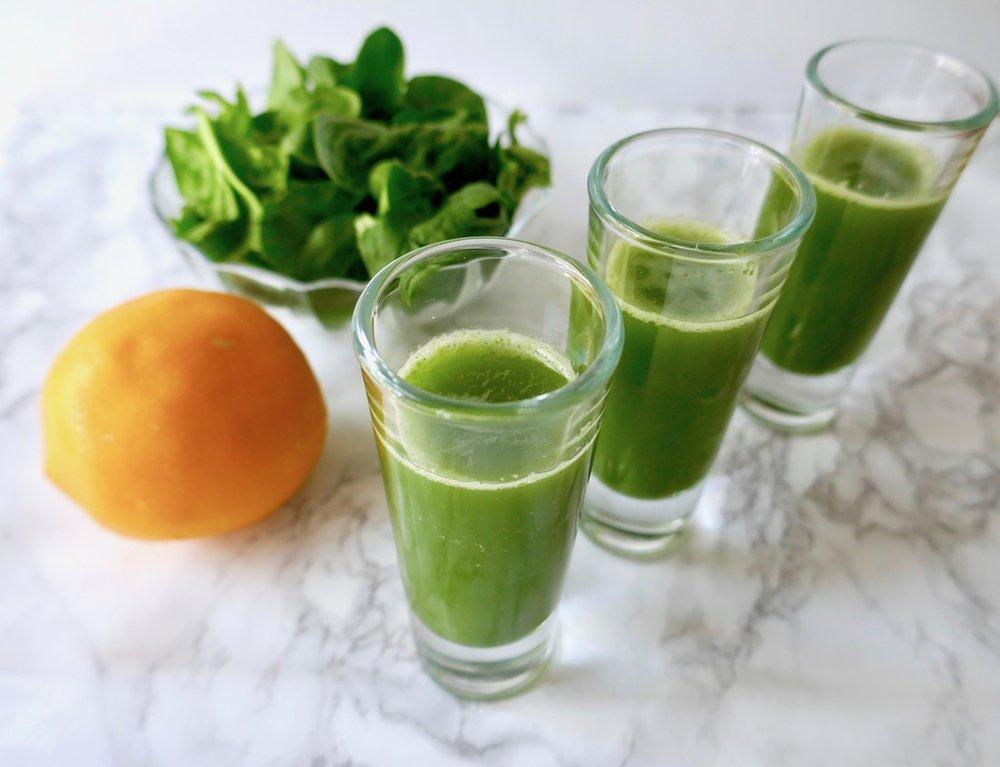 Healthy green immune boosting shot