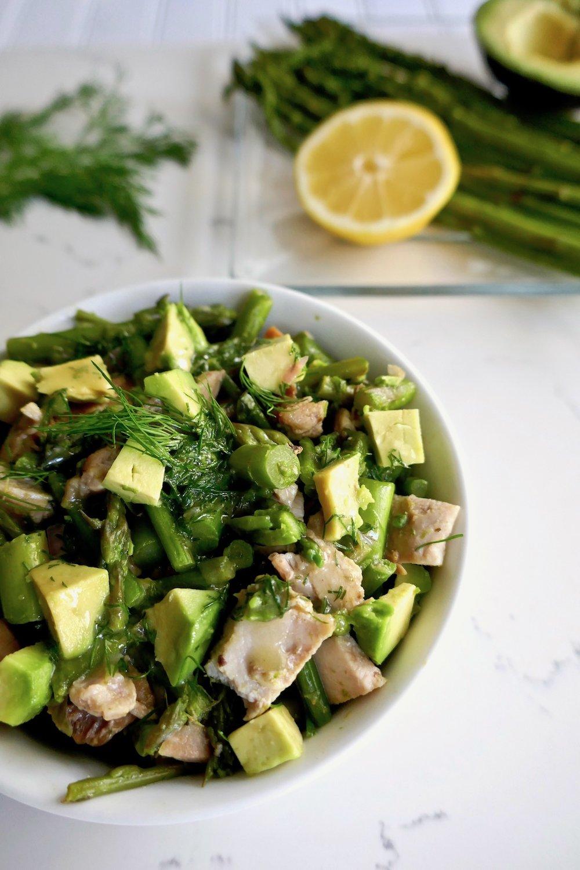 Paleo avocado dill chicken salad, mayo free