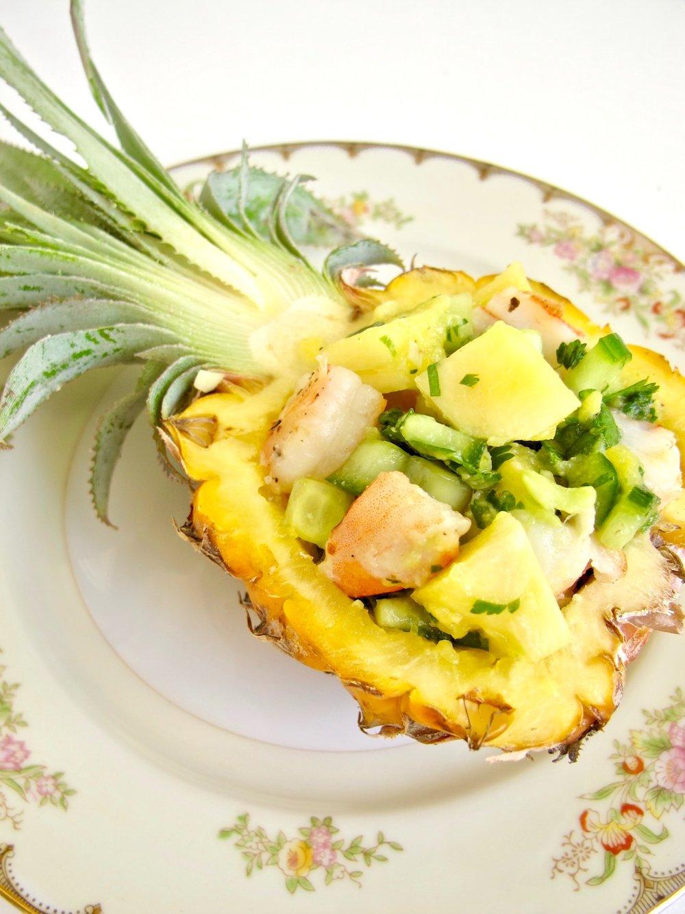 shrimp pineapple salad