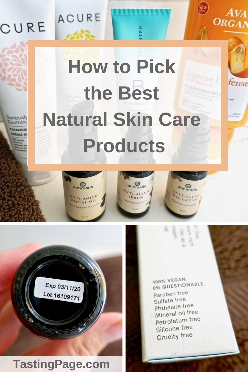 How to pick the best natural skincare products for every budget | TastingPage.com #skincare #toxinfree #natural #organic