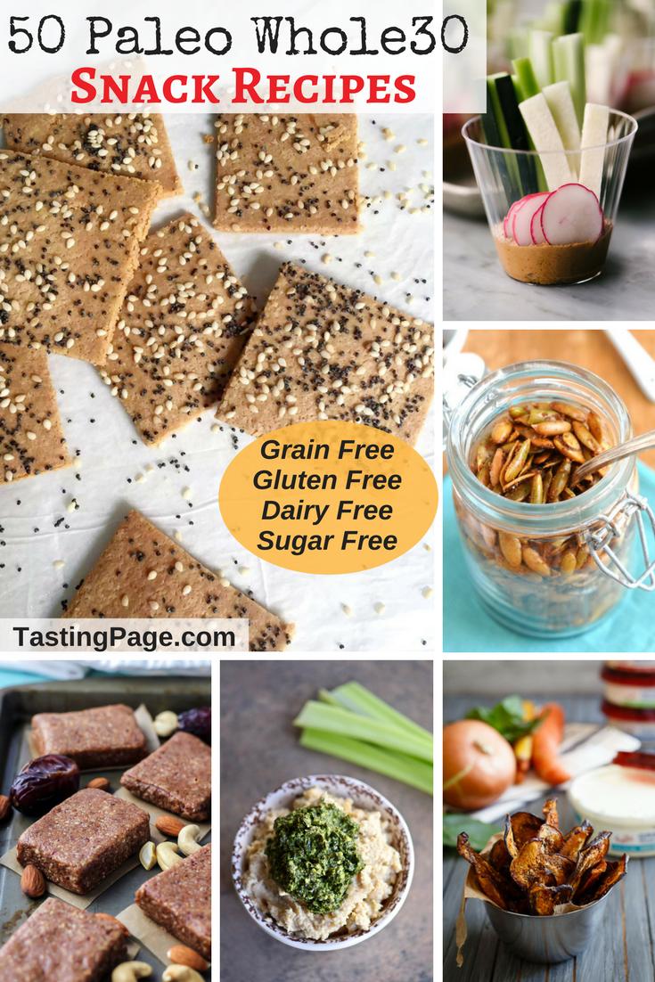 50 Paleo Snack Recipes | TastingPage.com #paleo #snack #snacks #healthysnack #whole30 #glutenfree #dairyfree