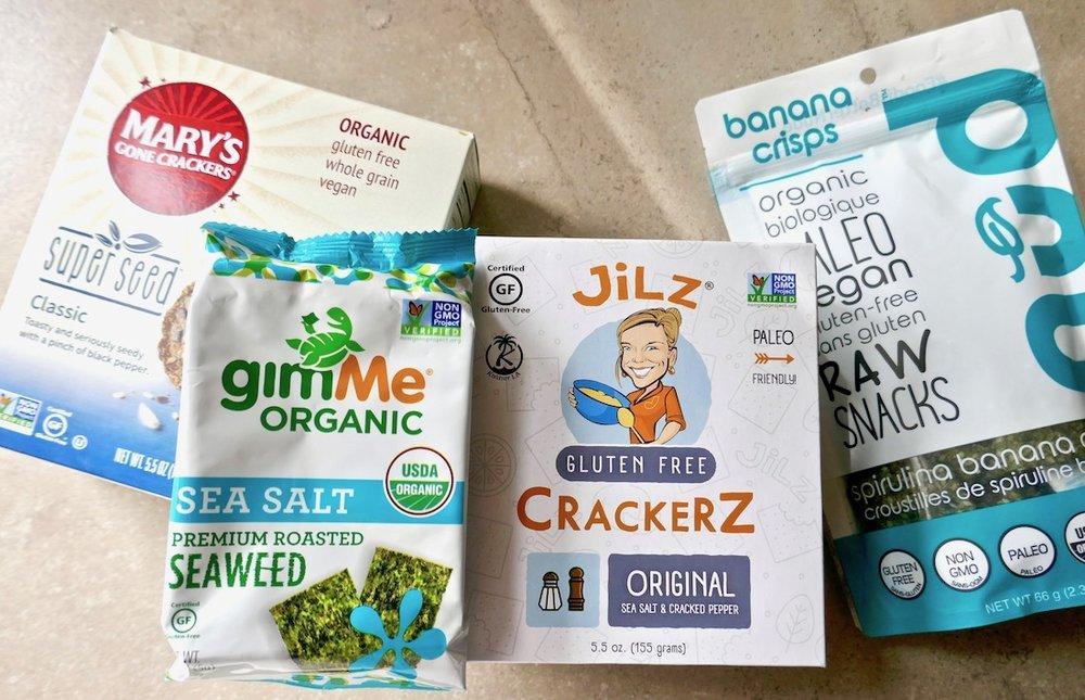 Clean eating real food crackers and chips | TastingPage.com #healthysnack #healthysnacks #snack #glutenfree #dairyfree #vegan #paleo