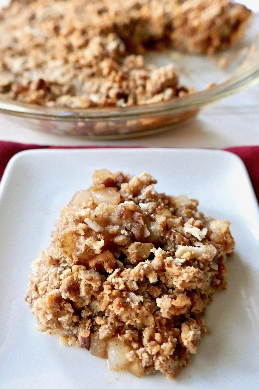 Grain free apple pear crumble sugar free vegan