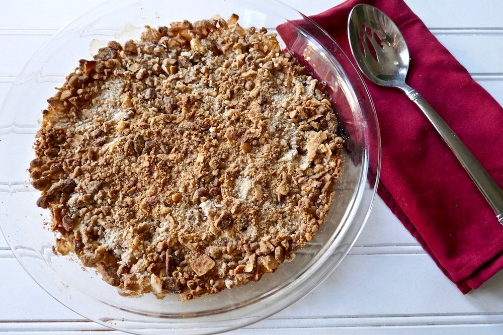 Enjoy this Thanksgiving healthy holiday food swap with a grain free apple pear cobbler
