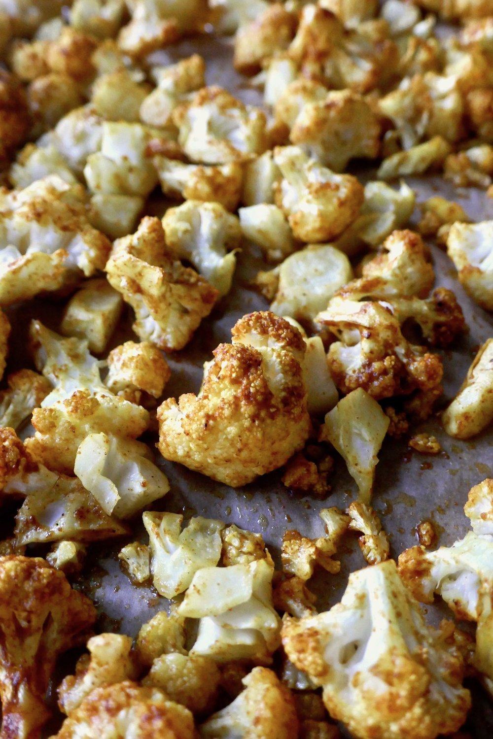oven roasted cauliflower with curry