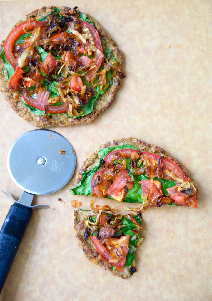 Gluten Free Vegan Cauliflower Crust Pizza | TastingPage.com
