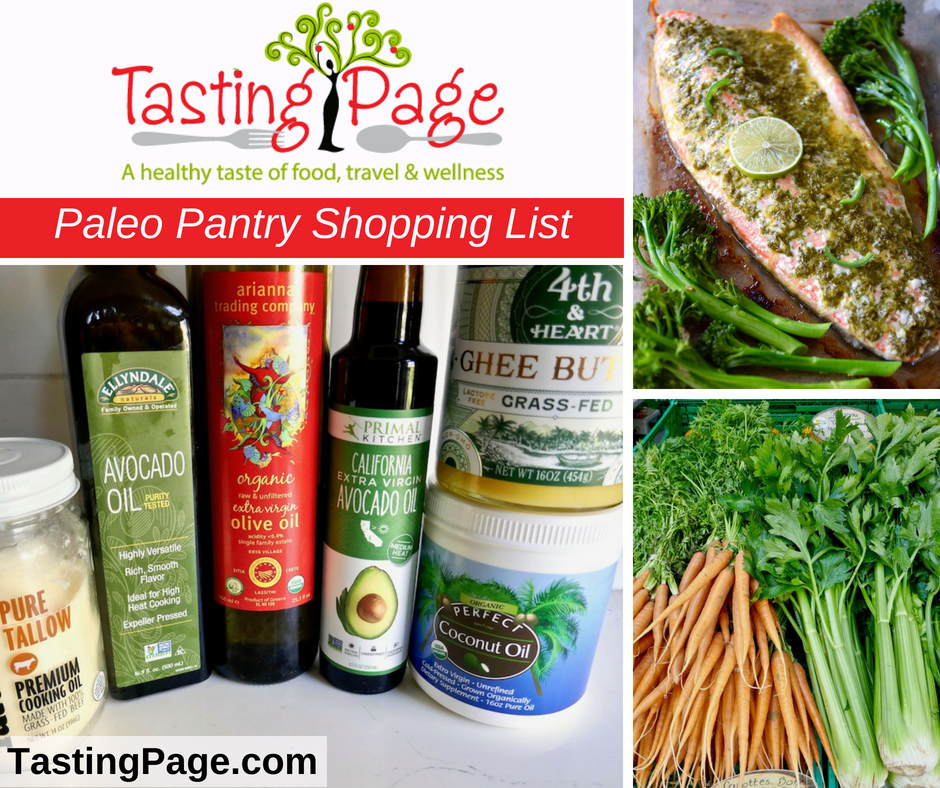 Paleo Pantry Shopping List