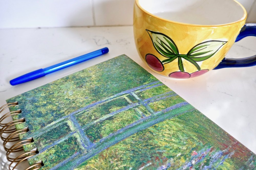make quiet time for tea and journaling