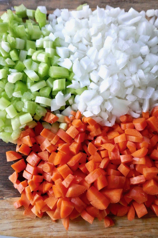 carrots celery onions chopped