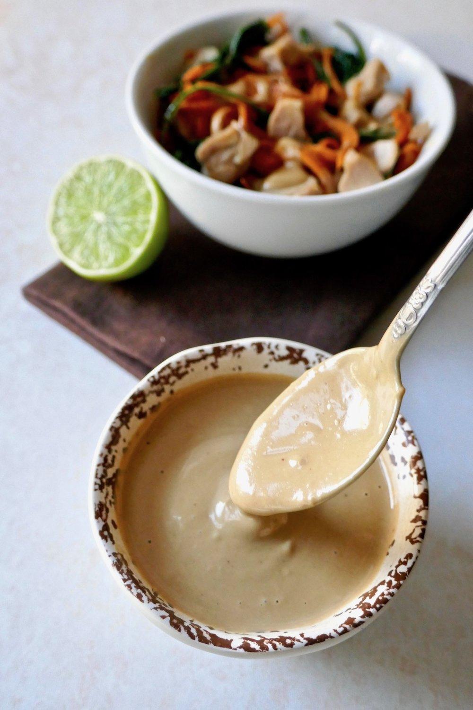 Nut free thai satay sauce