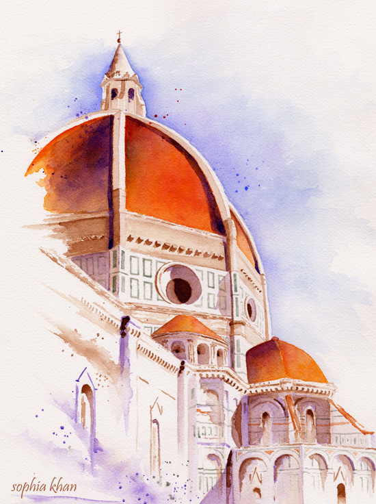 santa-maria-del-fiore-cathedral-florence-watercolor-copyright-sophia-khan.jpg