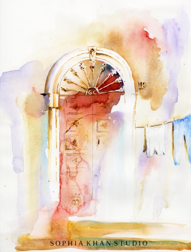 An invitation from doorway No. 48 ~ Ferrandina, Italy
