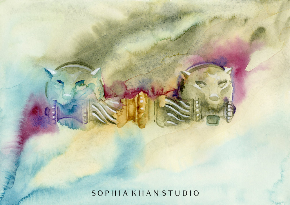 watercolor on Arches paper ~ copyright © Sophia Khan