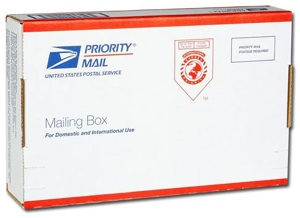 The USPS small flat rate box is what we recommend for you to use when shipping us slides.