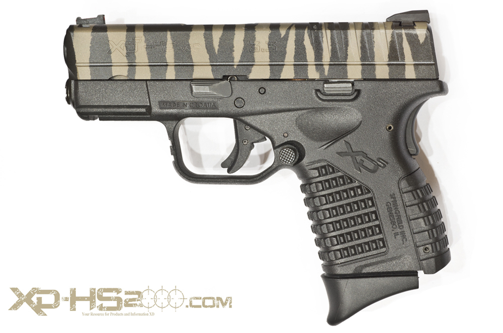 Side view of the Leupold Brown and Black Tiger Striped XDS
