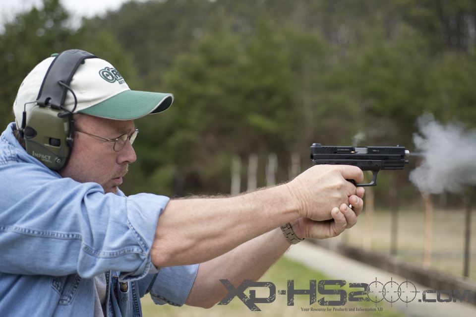 Note the muzzle blast of the Advantage Arms Springfield 22LR conversion kit.