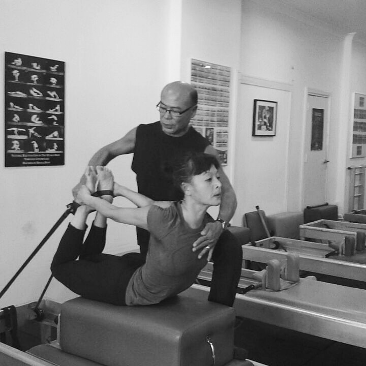 Anthony Rabara and I doing the second long box on the reformer