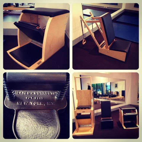 Pilates apparatus (clockwise) — Wunda chair, Baby chair, Pilates chairs; Electric, Baby and Wunda, the Foot corrector