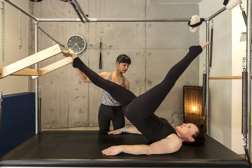 Tailored training for the individual that utilises all the Pilates studio equipment