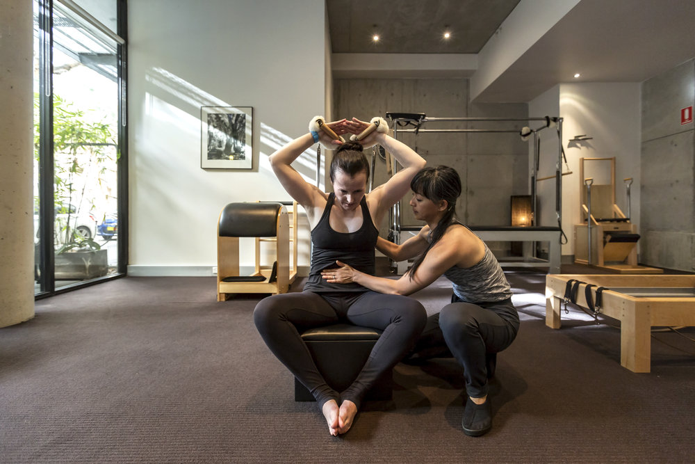 Our studio is equipped with traditional Pilates made by Gratz Industries USA