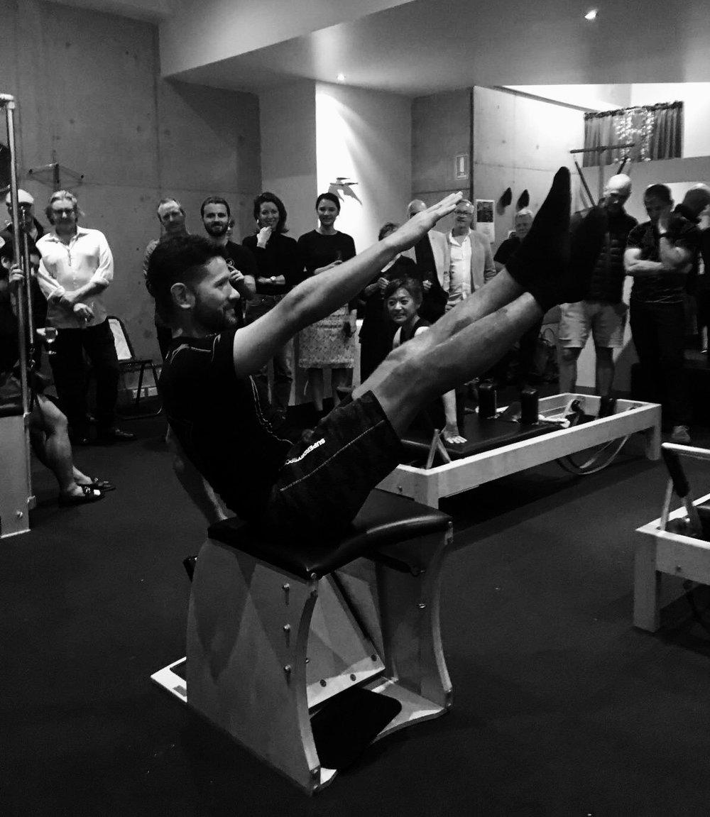 Instructor Pablo Comino on the Wunda Chair—Twist