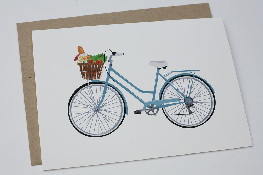 Farmers Market Bike Greeting Card