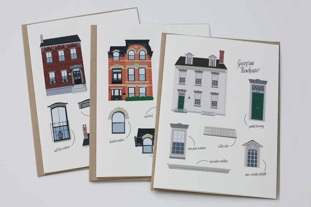 Rowhouse Love Greeting Card Set