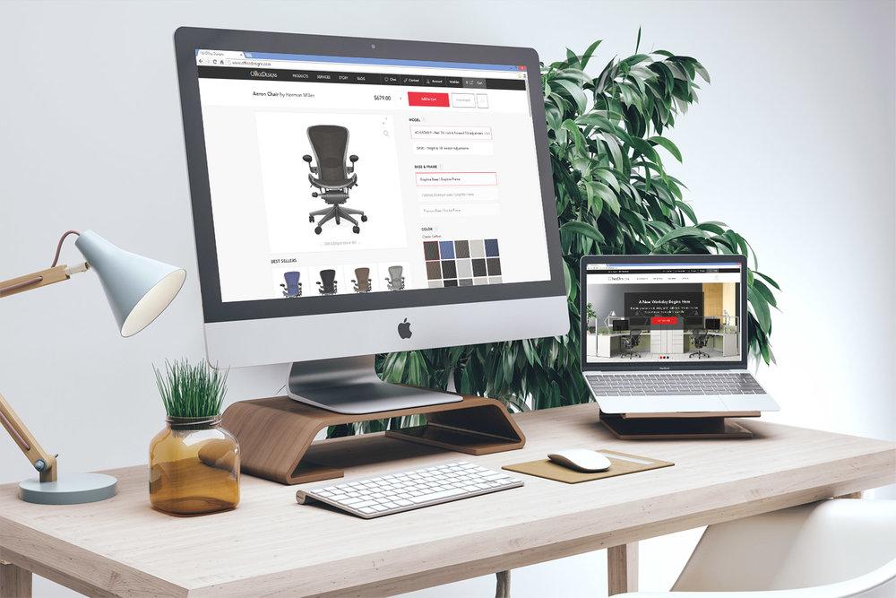 Mockup Office Designs Website