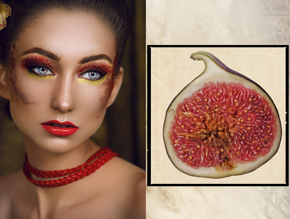 """Fruits stories"" - Figs-diptych"