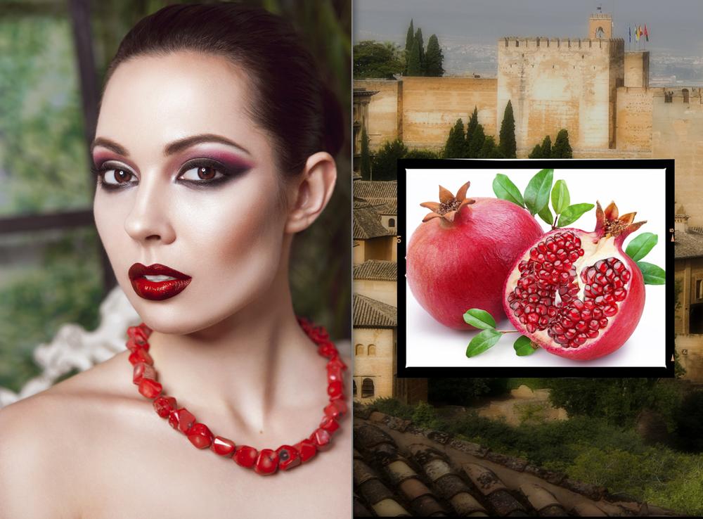 Granat makeup