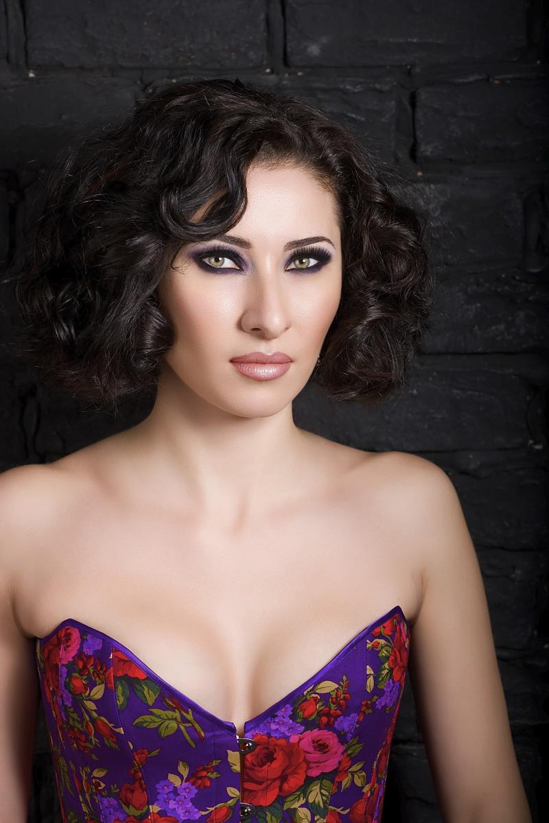 beauty shot in corset