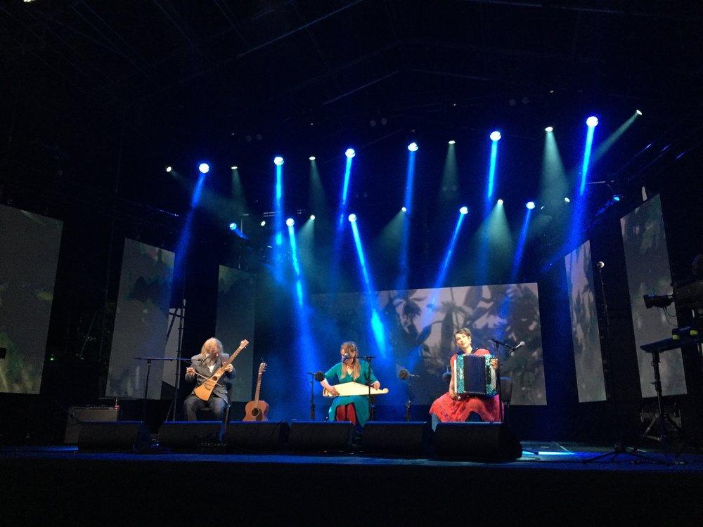 Viljandi folk Festival opening concert with Upa-upa.