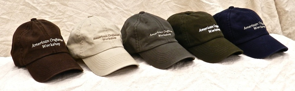 American Craftsman Workshop Hats come in dark brown, khaki, olive drab, dark green, and dark blue