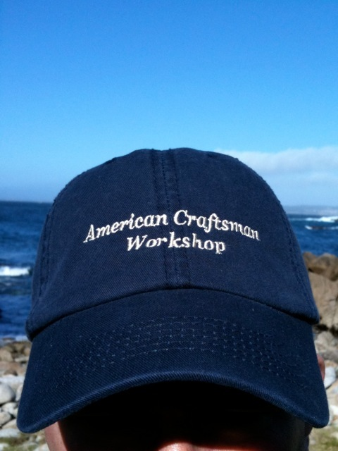 ACW Hat at the Pacific Ocean on the California Coast