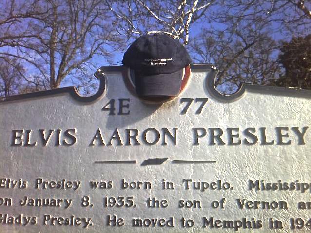 ACW Hat Visits Elvis Presley's Home Graceland, Memphis, Tennessee