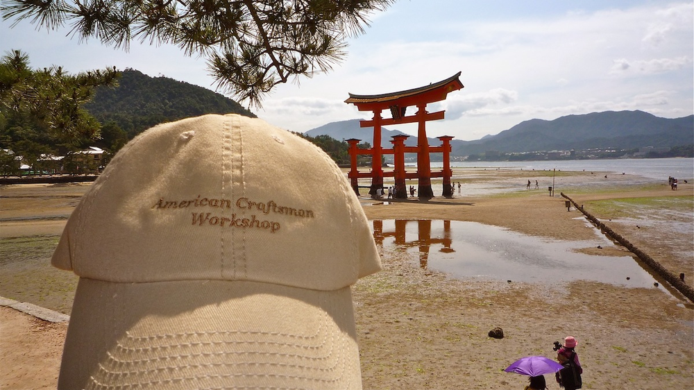 ACW Hat Visits the Miyajima Torii Gate in Japan