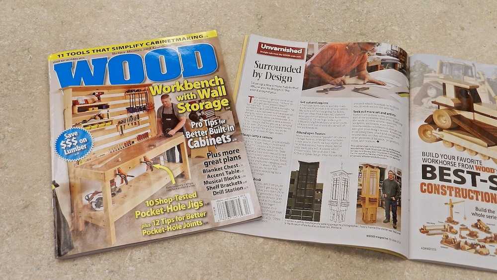 Design Inspiration Article for Oct 2013 Issue of WOOD Magazine p.22