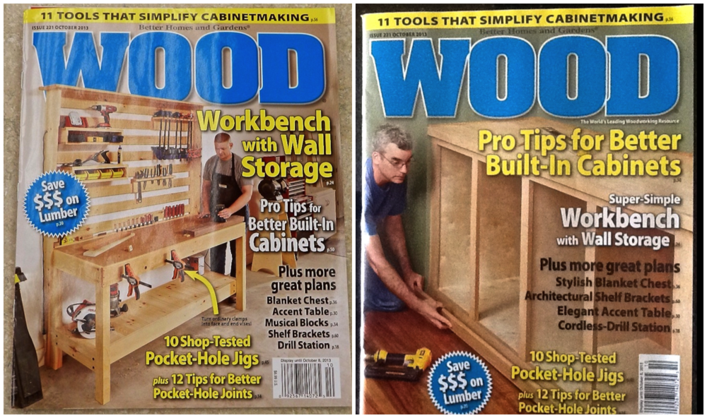 The October issue of WOOD Magazine features 2 different covers so keep an eye for either one.