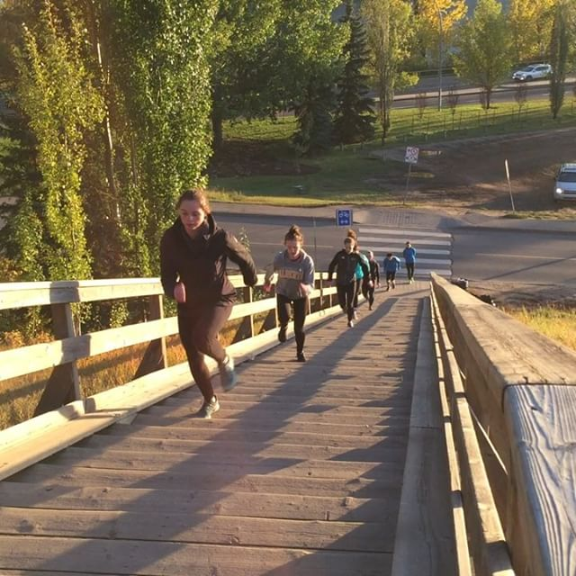We're back to fall training with some good old stair workouts! #yeg #ualberta #trackandfield #jumps #polevault #stairs #running #tracknation #piggyback