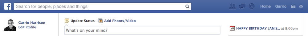 Facebook Search: Search for people, places and things.