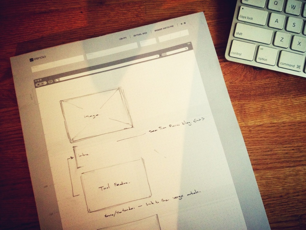I'm a visual person so my blog posts and presentation decks usually begin with a sketch.