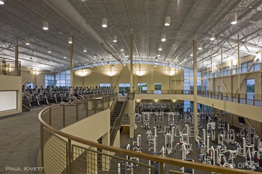 Upper Level of Fitness Center