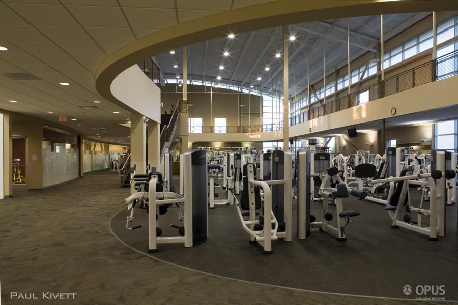 Lower Level of Fitness Center