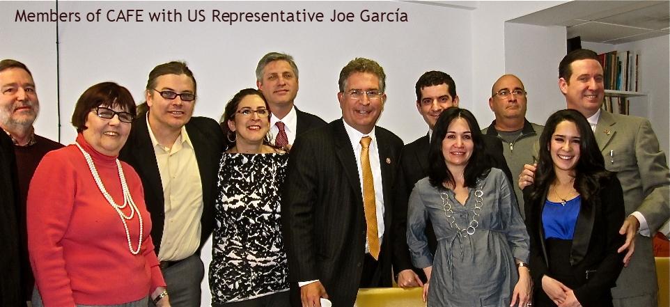 CAFE members with Congressman Joe Garcia