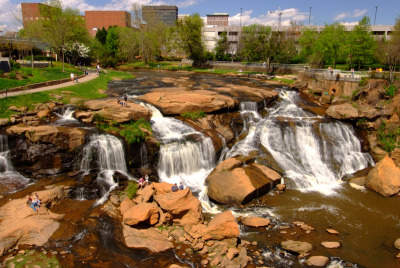 Reedy Falls in downtown Greenville. Photo © Ben Geer Keys