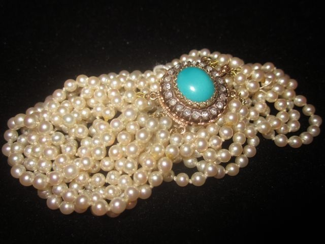 Pearl & Turquoise Choker