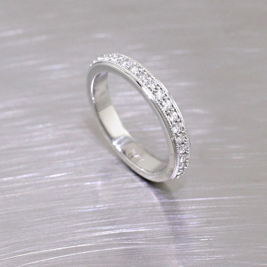 Item #21110054: Bead-Set Diamond Eternity Band, Platinum