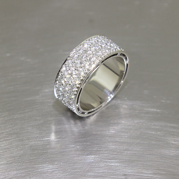Item #21110088 - Pave Diamond Band in Platinum