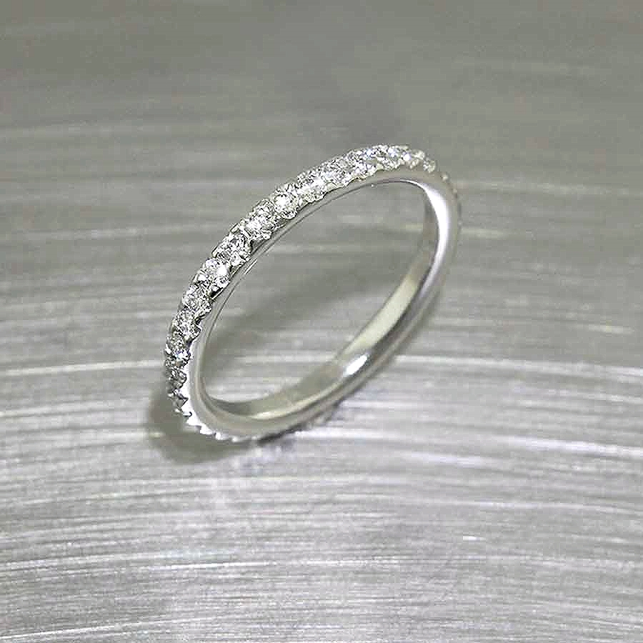 Style #11110261: French-Cut Diamond Eternity Band in Platinum